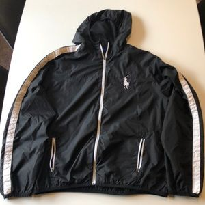 Polo Ralph Lauren hooded windbreaker.